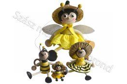Fa méhecske kulcstartó közepes