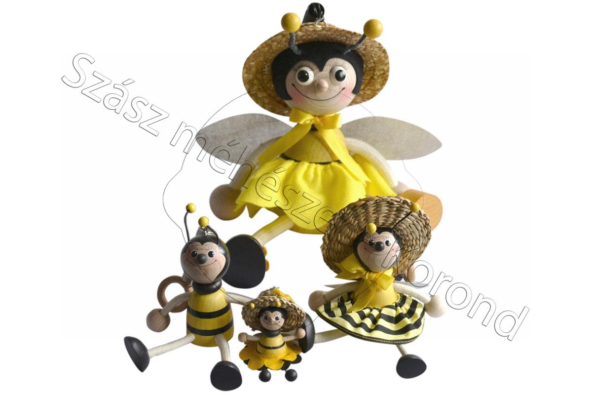Fa méhecske kulcstartó kicsi